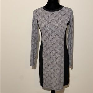 Michael kors geometric print long sleeve dress